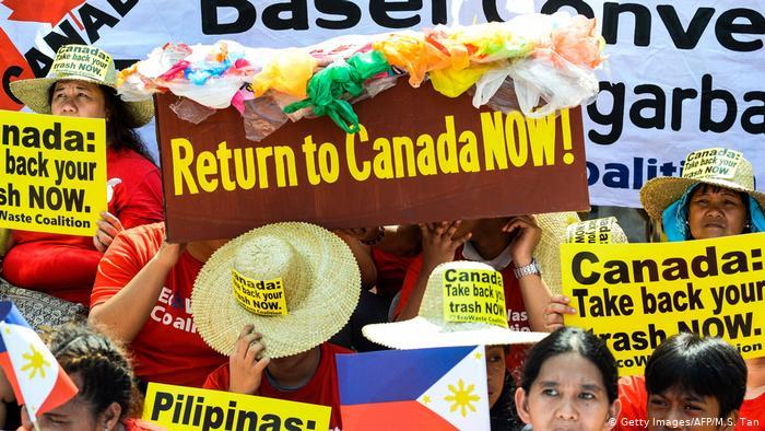 فیلیپین زبالههای کانادا را پس میفرستد