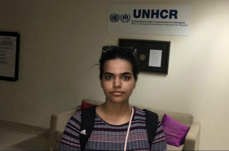 دختر پناهجوی عربستانی از تایلند وارد کانادا شد