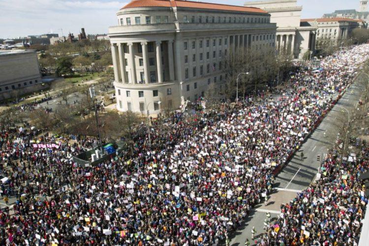 راهپیمایی بزرگ برای کنترل اسلحه در آمریکا