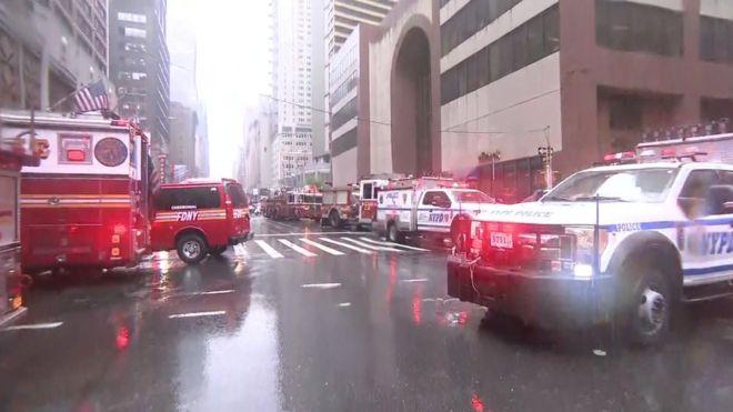 یک کشته در فرود اضطراری هلیکوپتر بر آسمانخراشی در نیویورک