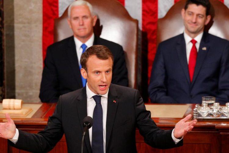 ماکرون در برابر کنگره امریکا : فرانسه از برجام خارج نمیشود و ایران هرگز به سلاح اتمی دست نخواهد یافت