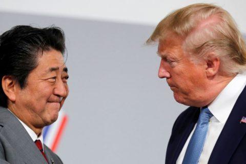 پرزیدنت ترامپ در تماسی تلفنی با شینزو آبه از نتیجه مذاکرات او با رئیس جمهوری ایران آگاه شد